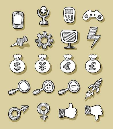 Icons Sketch 2 Vector