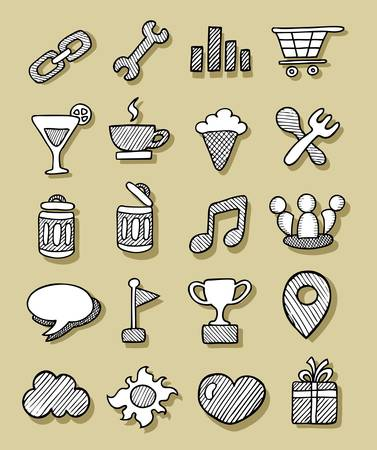Icons Sketch 3 Vector
