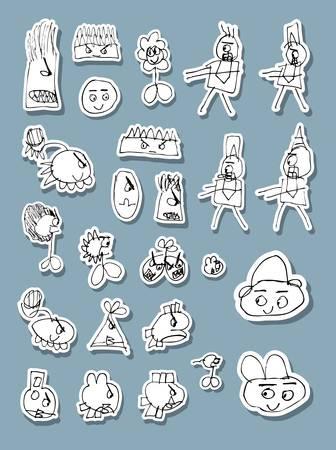 naif: Naif Doodle Icons Vector