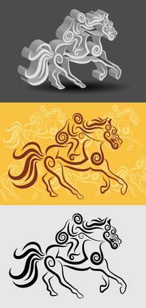Jockey Decoration Symbol Vector Illustration
