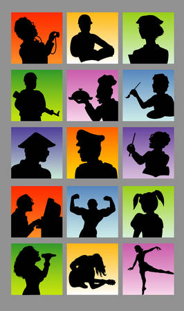 Profession avatar people silhouettes  Good use for your avatar, symbol, logo, or any design you want  Easy to use  Vector