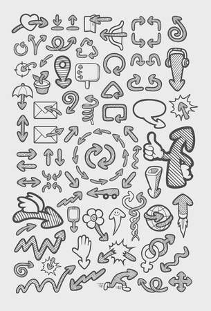 Creative arrow icons sketch  Easy to use, edit or change color Vector