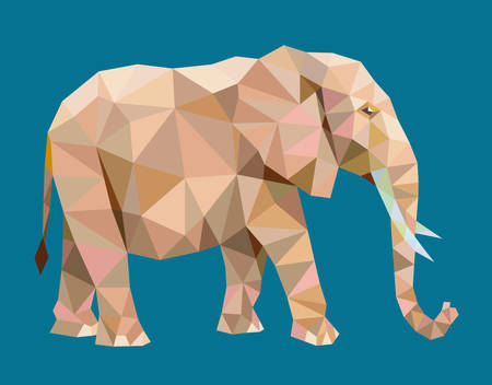 re: Elephant triangle low polygon style. Nice, colorful and clean vector. Good use for your symbol, mascot, website icon, avatar, sticker, or any design you want. Easy to use. Illustration
