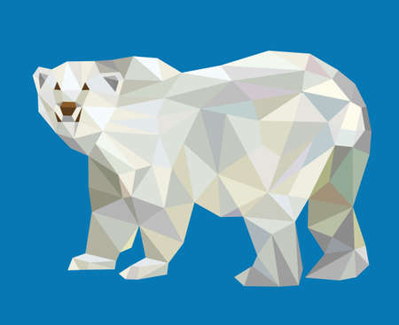 Polar bear triangle low polygon style vector. Good use for your symbol, website icon, mascot, sticker, or any design you want. Easy to use. Ilustracja
