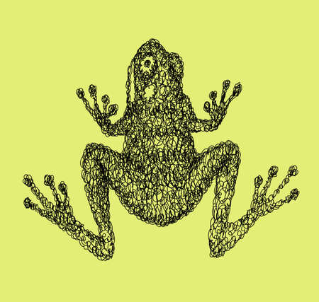 re: Frog abstract doodle style, animal black drawing vector. Good use for illustration, symbol, mascot, icon, or any design you want. Easy to use, edit, or change color.