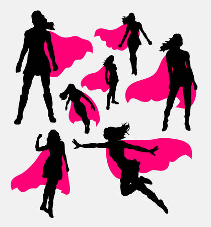 Female superhero silhouettes