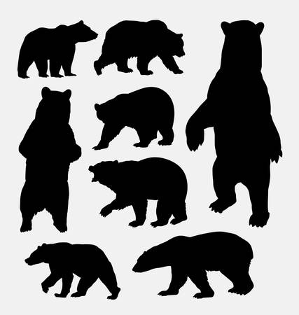 야생 동물 실루엣을 곰 스톡 콘텐츠 - 44344841
