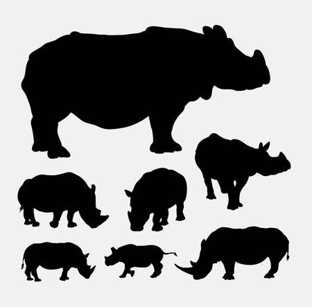 re design: Rhinoceros silhouettes Illustration