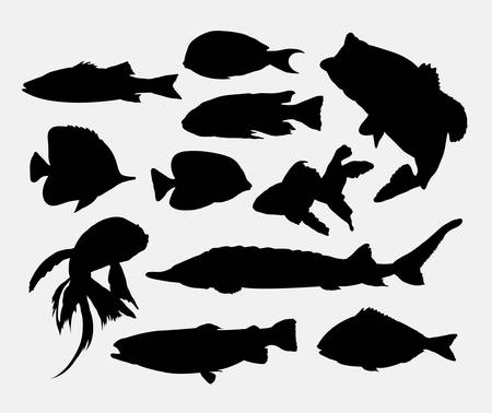 silhouettes: Fish silhouettes