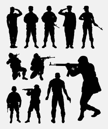 silhouettes: Soldier silhouettes