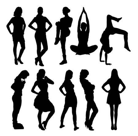 female symbol: Women activity silhouettes