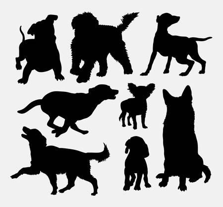Actions Dog silhouettes Banque d'images - 44484769