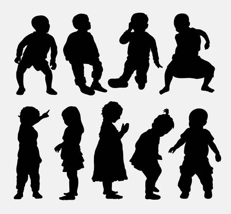 sisters: Children activity silhouettes