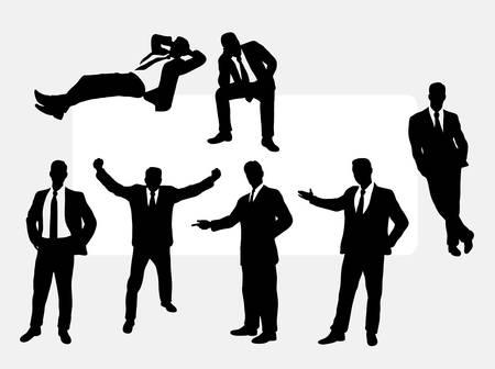 Nuttig zakenman actie silhouetten. Goed te gebruiken voor een ontwerp dat u wilt. Stockfoto - 45166568