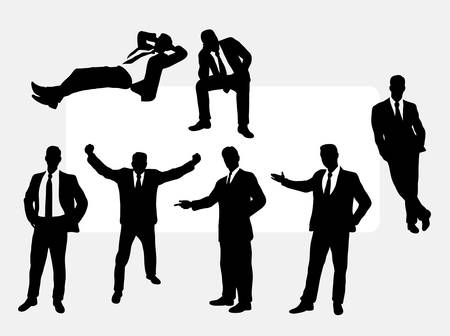 useful: Useful businessman action silhouettes. Good use for any design you want.