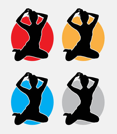 sexual activities: Sexy girl. Good use for symbol, web icon, mascot, or any design you want. easy to use.