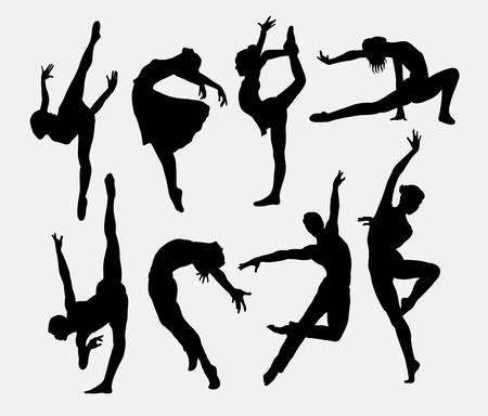 댄서 남성과 여성의 실루엣 스톡 콘텐츠 - 46756739