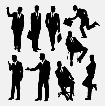 Businessman concept silhouettes. Good use for symbol, web icon, logo, mascot, or any design you want. Easy to use.