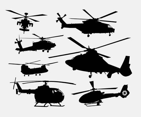 helicopter rescue: Helicopter transportation silhouettes. Good use for symbol, logo, web icon, game element, mascot, or any design you want. Easy to use. Illustration