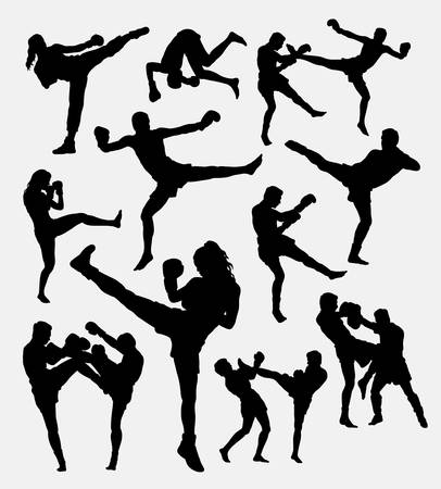 muay thai: Muay Thai boxing.
