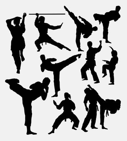 martial art: Karate fight martial art. Illustration