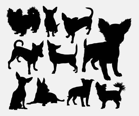 Chiwawa silueta del animal doméstico del perro. Buen uso de símbolo, icono del Web, marca, etiqueta, logotipo, o cualquier diseño que desee. Fácil de usar.