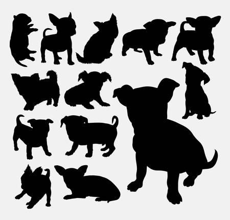 Szczenięta psów słodkie zwierzę domowe sylwetki. Dobre wykorzystanie na symbol, logo, ikony WWW, maskotki, cięcia naklejki, znak dla zwierząt, lub jakiegokolwiek projektu, który chcesz. Łatwy w użyciu. Logo