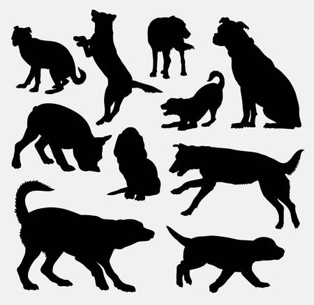 Dog pet animal silhouette 09. Good use for symbol, web icon, mascot, sign, sticker design, or any design you want. Easy to use.