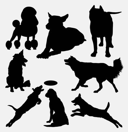 Dog pet animal silhouette 14. Good use for symbol,  web icon, mascot, sign, sticker design, or any design you want. Easy to use.