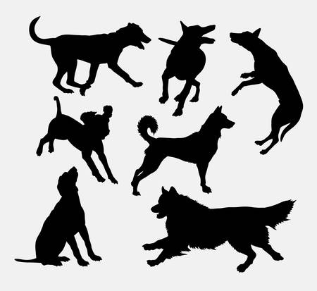 collie: Dog pet animal silhouette 19. Good use for symbol, web icon, mascot, sign, sticker design, or any design you want. Easy to use.