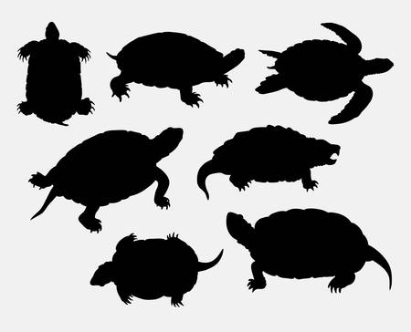 rare animal: Turtle, tortoise, amphibian rare animal silhouette. Good use for symbol, web icon,  mascot, game element, sign, or any design you want. Easy to use.