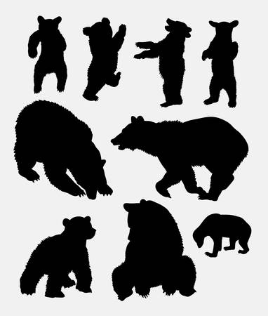 Bear wild animal silhouette 5. Good use for symbol,  , web icon, mascot, sign, sticker, or any design you want. Easy to use.