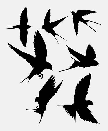 animal silhouette: Swallow bird animal silhouette. good use for symbol,  , web icon, mascot, sticker design, mascot, or any design you want.