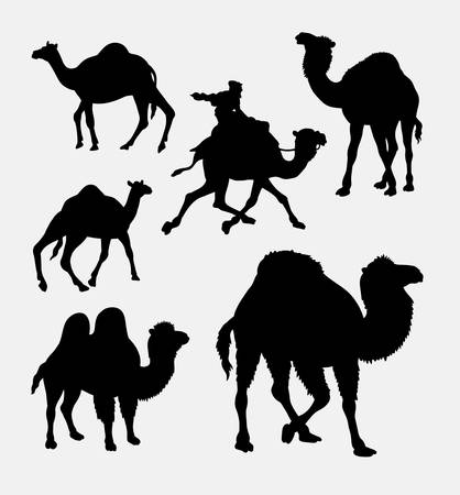 dromedaries: Camel and dromedaries animal silhouette. Good use for symbol, logo, web icon, mascot, element, sticker design, or any design you want.