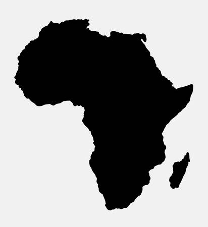 resizable: Africa island map black style silhouette. Good use for symbol, logo, web icon, mascot, sign, or any design you want. Easy to use.