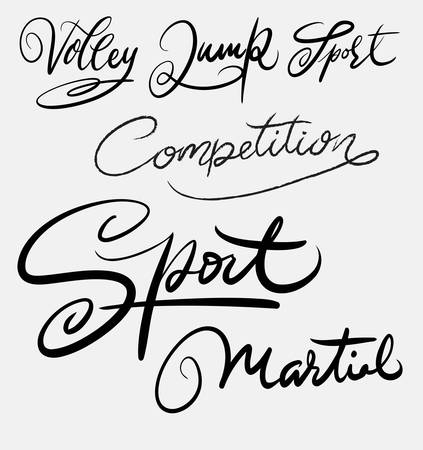 spontaneously: Sport and martial art hand written typography. Good use for logotype, symbol, cover label, product, brand, poster title or any graphic design you want. Easy to use or change color