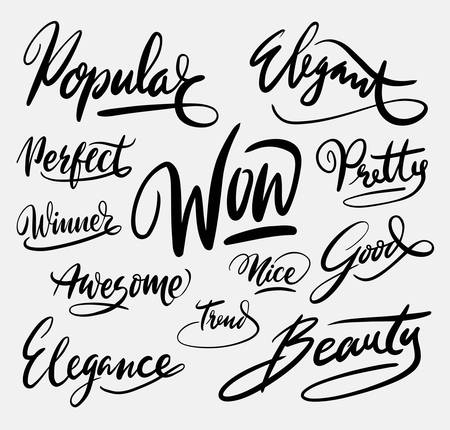 spontaneously: Wow popular hand written typography. Good use for logotype, symbol, cover label, product, brand, poster title or any graphic design you want. Illustration