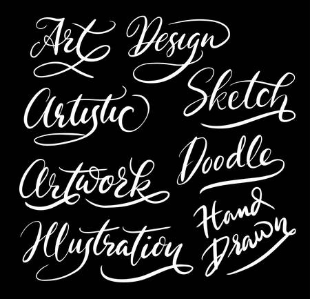 spontaneously: Illustration and artwork hand written typography. Good use for logotype, symbol, cover label, product, brand, poster title or any graphic design you want. Illustration