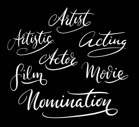 spontaneously: Nomination and artist hand written typography. Good use for logotype, symbol, cover label, product, brand, poster title or any graphic design you want. Easy to use or change color