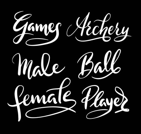 games hand: Games and player hand written typography. Good use for logotype, symbol, cover label, product, brand, poster title or any graphic design you want.