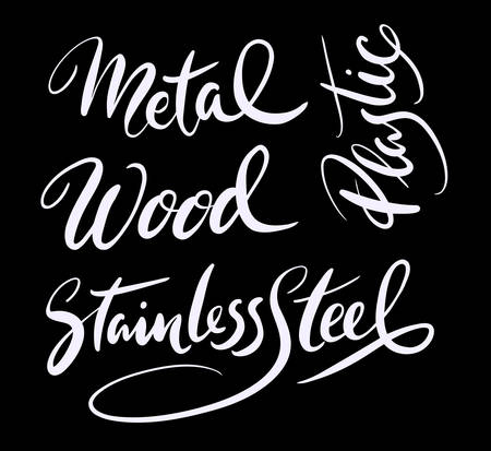 spontaneously: Metal and wood hand written typography. Good use for logotype, symbol, cover label, product, brand, poster title or any graphic design you want. Easy to use or change color