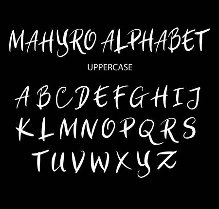 spontaneous: Vector alphabet uppercase characters. Good use for logotype, cover title, poster title, letterhead, body text, or any design you want.