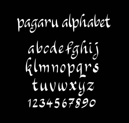 spontaneous: Vector alphabet lowercase characters. Good use for logotype, cover title, poster title, letterhead, body text, or any design you want.
