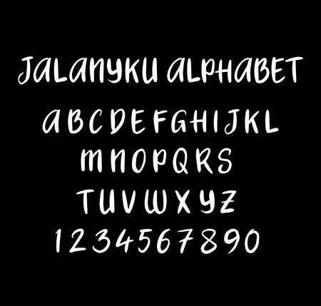 spontaneous: Jalanyku vector alphabet uppercase characters. Good use for logotype, cover title, poster title, letterhead, body text, or any design you want. Easy to use, edit or change color.