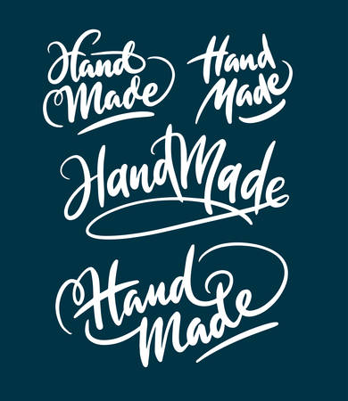 spontaneously: hand made hand written typography. Good use for logotype, symbol, cover label, product, brand, poster title or any graphic design you want. Easy to use or change color Illustration