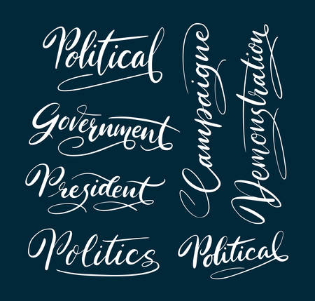 spontaneously: Political and campaigne hand written typography. Good use for logotype, symbol, cover label, product, brand, poster title or any graphic design you want. Easy to use or change color Illustration