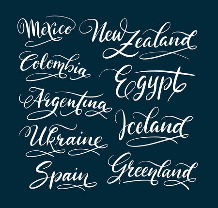 Mexico and new zealand hand written typography. Good use for logotype, symbol, cover label, product, brand, poster title or any graphic design you want. Easy to use or change color