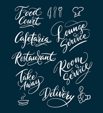 spontaneously: Cafetaria and food court hand written typography. Good use for logotype, symbol, cover label, product, brand, poster title or any graphic design you want. Easy to use or change color