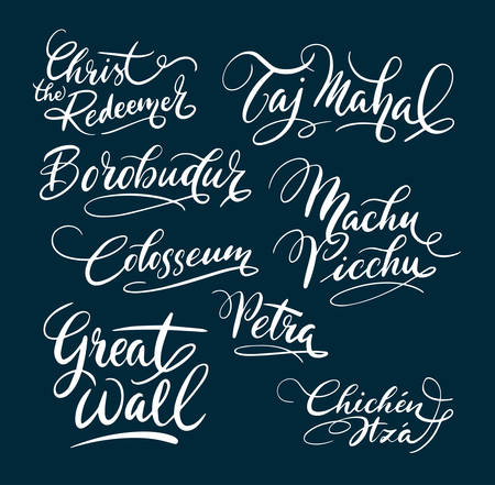 Great wall and colosseum hand written typography. Good use for logotype, symbol, cover label, product, brand, poster title or any graphic design you want. Easy to use or change color