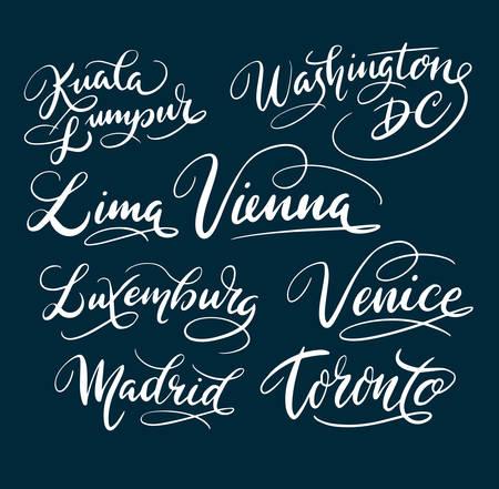 쿠알라 룸푸르와 워싱턴 DC 손으로 타이포그래피를 작성합니다. 로고 타입, 기호, 표지 라벨, 제품, 브랜드, 포스터 제목 또는 원하는 그래픽 디자인에  일러스트